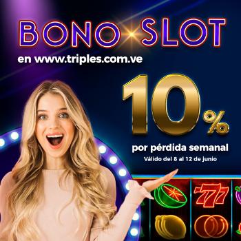 Bono 10% sobre perdida jugando en SLOTS